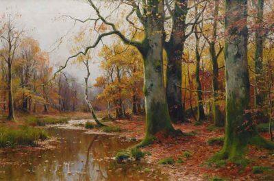 Arroyo de un bosque en otoño - Walter Moras