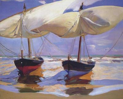 Barcos varados - Joaquín Sorolla