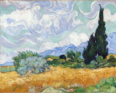 Campo de trigo con cipreses - Vincent Van Gogh