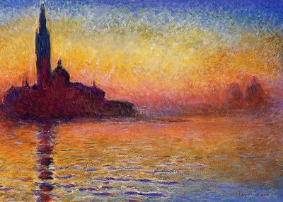 Crepúsculo en Venecia - Claude Monet