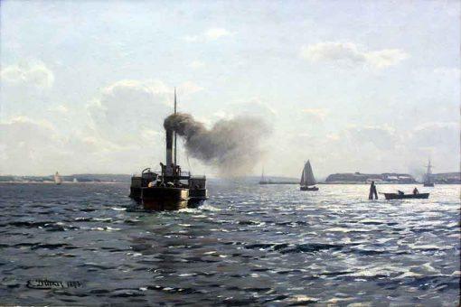 El Mar Báltico, cerca de Flensburg anagoria de Eugen Dücker