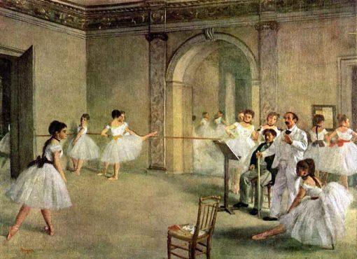 El foyer de la danza en la ópera de Edgar Degas