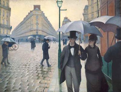 Calle de París, día lluvioso de Gustave Caillebotte