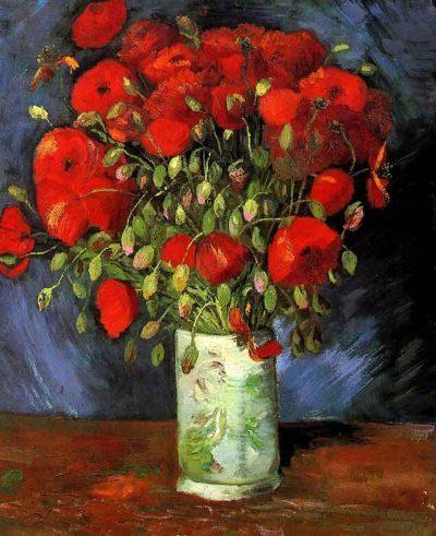 Flores - Jarrón con amapolas rojas - Vincent van Gogh