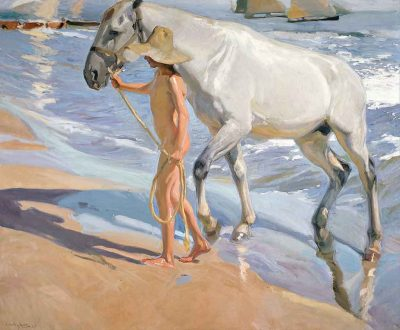 El baño del caballo - Joaquín Sorolla