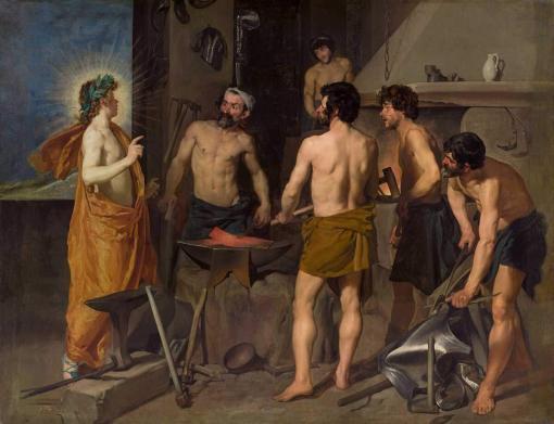 La fragua de Vulcano de Velázquez