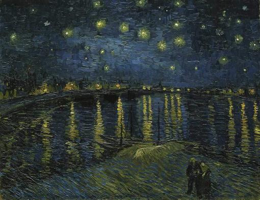 La noche estrellada sobre el Ródano - Vincent Van Gogh