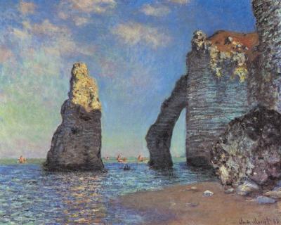 Los acantilados de Etretat - Claude Monet