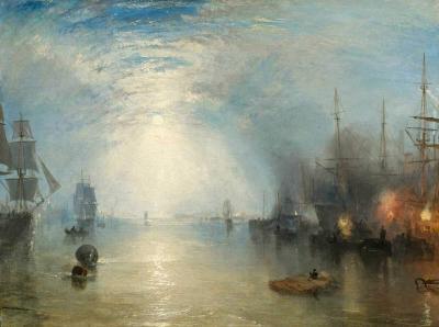 Los keelmen y el levantamiento del carbón en una noche clara - William Turner