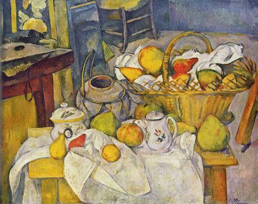 Naturaleza muerta con cesto de frutas - Paul Cézanne