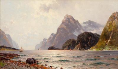 Paisaje del fiordo - Walter Moras