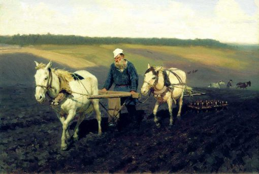 Tolstoi arando - Ilya Repin