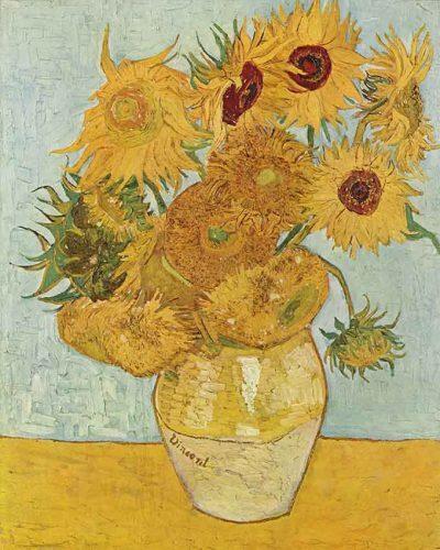 Jarrón con doce girasoles - Vincent Van Gogh