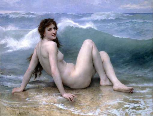 La ola de William-Adolphe Bouguereau