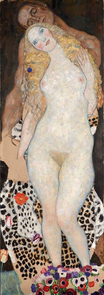 Adán y Eva de Gustav Klimt