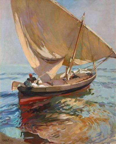Camino de la pesca - Joaquín Sorolla