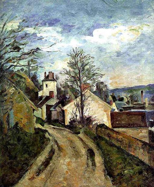 La casa del doctor gachet en Auvers - Paul Cézanne