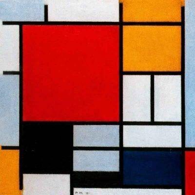 Composición en rojo amarillo y azul - Piet Mondrian