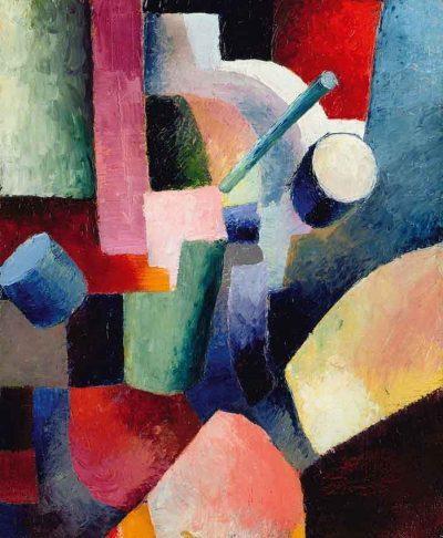 Composición de formas y colores - August Macke