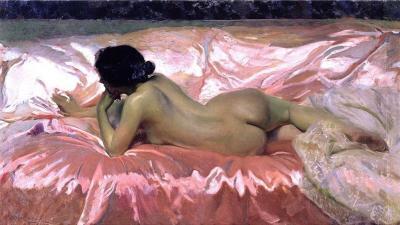 Desnudo de mujer de Joaquín Sorolla
