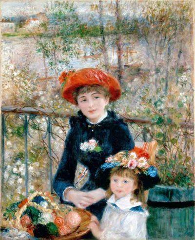 Dos hermanas de Renoir
