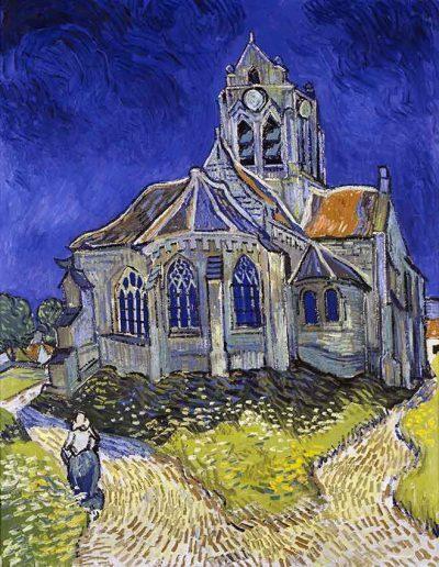 La iglesia de Auvers de Vincent Van Gogh