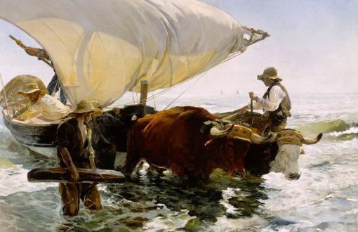 La vuelta de la pesca de Joaquín Sorolla