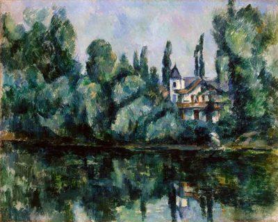 Las orillas del Marne - Paul Cézanne