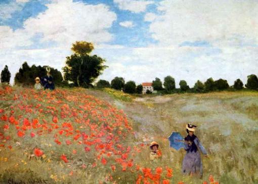 Paseo entre amapolas - Claude Monet