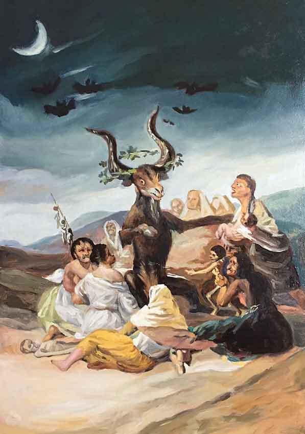 """""""El aquelarre"""" de Goya"""