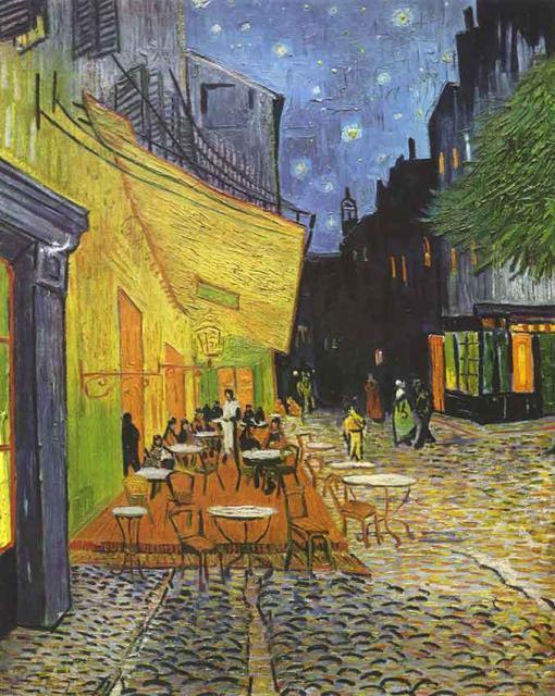 Terraza de café por la noche - Vincent Van Gogh