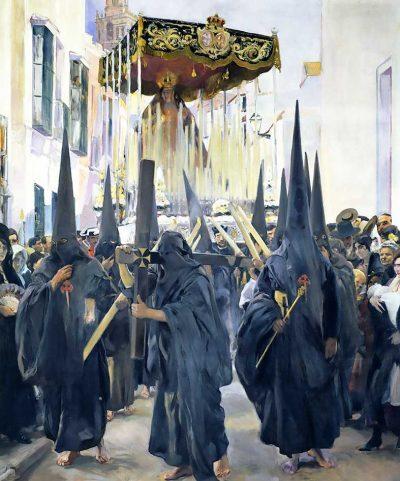 Sevilla los nazarenos - Joaquín Sorolla