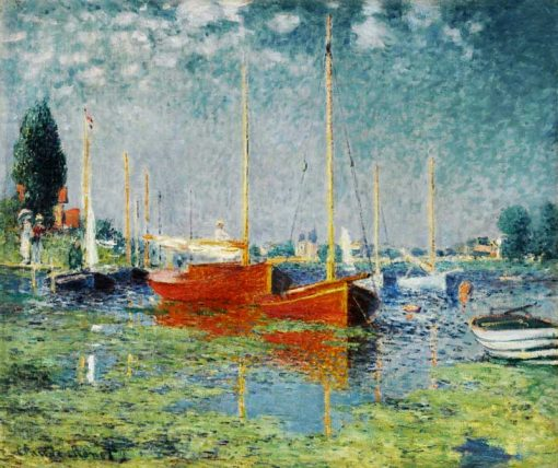 barcos rojos argenteuil 1875