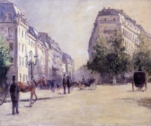 El cuartel de la Pepiniere - Gustave Caillebotte