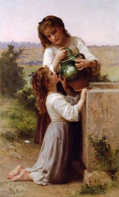 En la fuente - William Bouguereau