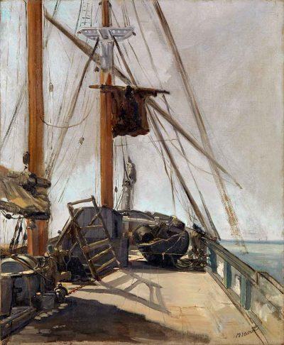 La cubierta de barco de Édouard Manet