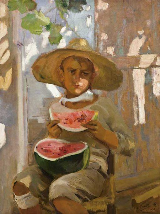 Niño comiendo sandía - Joaquín Sorolla
