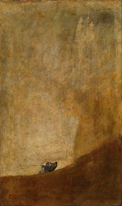 perro semihundido de Goya