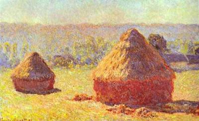 Almiares en el final del verano efecto amanecer de Claude Monet