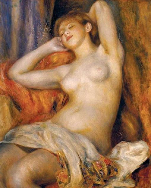 Bañista dormida de Renoir
