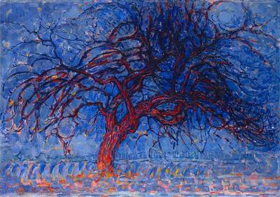 El árbol rojo de Piet Mondrian