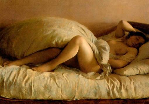 Mujer durmiendo de Johann Baptist Reiter