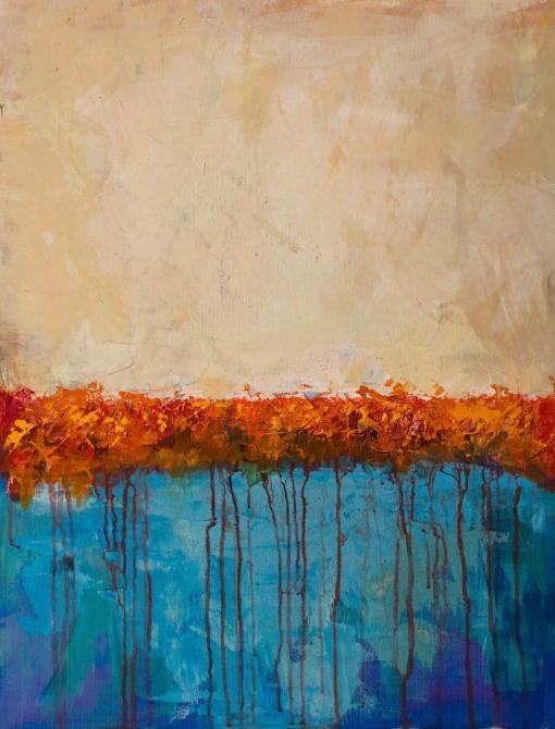 Abstracto con rojos y azules