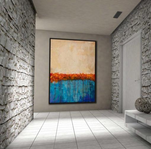 Abstracto con rojos y azules por Copiamuseo