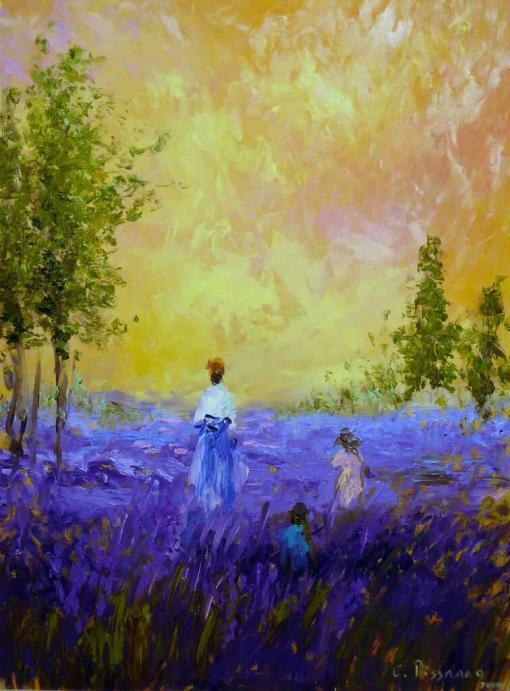 Champs de lavande (campos de lavanda) de Camille Pissarro