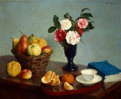 Bodegón de Flores y fruta de Henri Fantin-Latour
