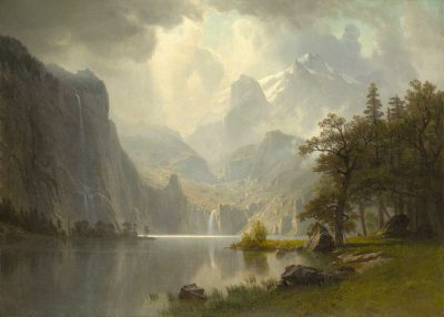 En la montaña de Albert Bierstadt