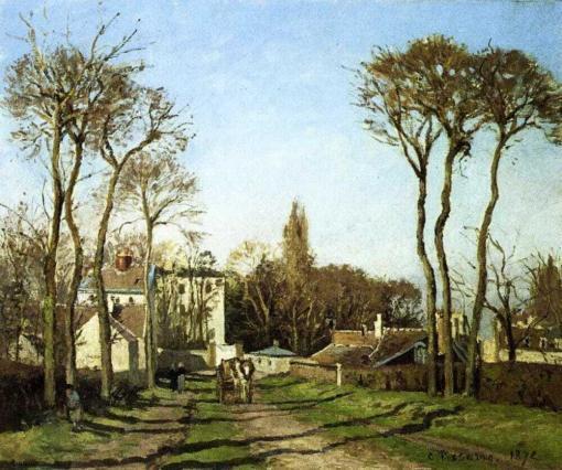Entrada a la Aldea de Voisins en 1872