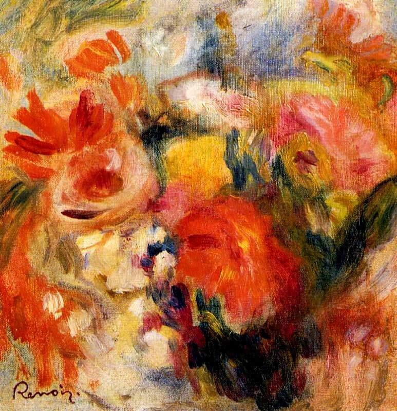 Estudio de flores de Renoir