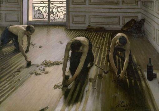 Los acuchilladores de parqué de Gustave Caillebotte